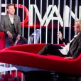 Exclusif - Enregistrement de l'émission  Le Divan  présentée par Marc-Olivier Fogiel avec son amie Claire Chazal en invitée, le 23 mai 2015.