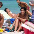 Marco Verratti en vacances à Formentera (Espagne) avec sa belle Laura et leur fils Tommaso (1 an) le 24 juin 2015.