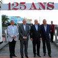 Exclusif - Guest, Michel Roger (ministre d'Etat de la principauté de Monaco), le prince Albert II de Monaco, Michel Boeri (le président de l'ACM) - Fête pour les 125 ans de l'Automobile club de Monaco (ACM) au Grimaldi Forum de Monaco, le 25 juin 2015