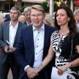 Exclusif - Mika Hakkinen (ancien pilote de Formule 1) et sa compagne Marketa Remesova - Fête pour les 125 ans de l'Automobile club de Monaco (ACM) au Grimaldi Forum de Monaco, le 25 juin 2015.