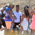 Raheem Sterling en vacances à Ibiza entouré de ses amis, le 20 juin 2015