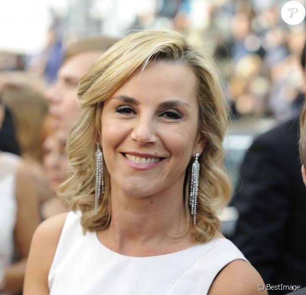 """Laurence Ferrari - Montée des marches du film """"Irrational Man"""" (L'homme irrationnel) lors du 68e Festival International du Film de Cannes, à Cannes. Le 15 mai 2015."""