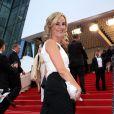 """La belle Laurence Ferrari - Montée des marches du film """"Irrational Man"""" (L'homme irrationnel) lors du 68e Festival International du Film de Cannes, à Cannes le 15 mai 2015."""