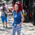 Patricia Field devant son magasin de New York, le 30 juin 2015, lors de la visite de Caitlyn Jenner