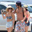 Exclusif - Lucy Hale et son petit ami Anthony Kalabretta en vacances à Hawaï, le 2 juillet 2015.
