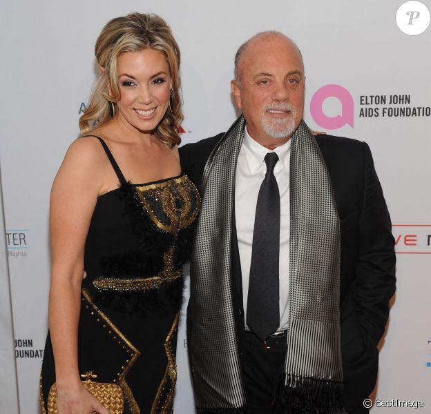 """Billy Joel et Alexis Broderick à la soirée """"Elton John AIDS Foundation"""" au Cipriani Wall Street de New York le 15 octobre 2013"""