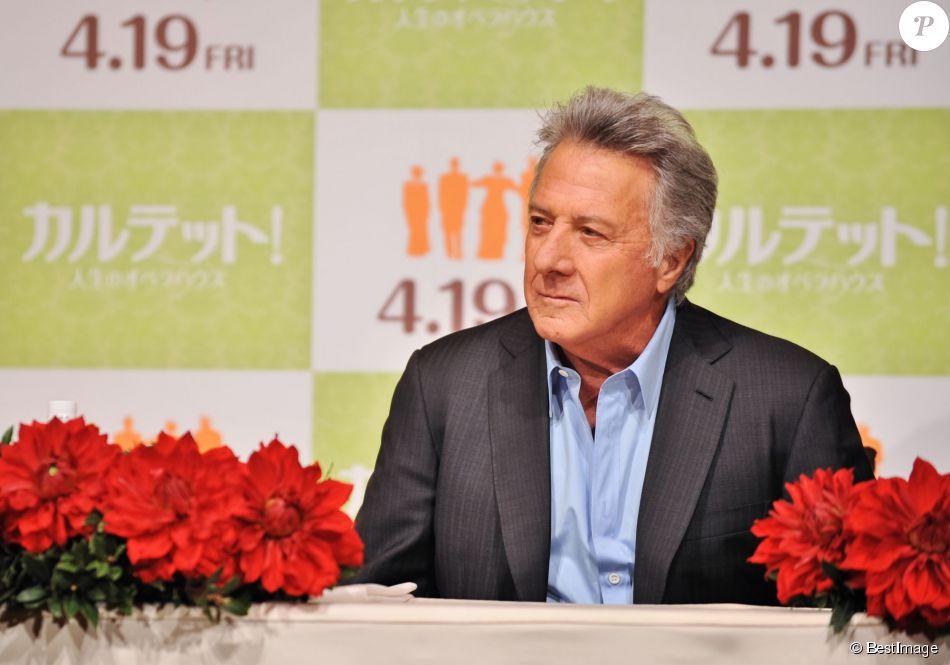 """Dustin Hoffman lors de la conférence de presse pour le film """"Quartet"""" à Tokyo, le 9 avril 2013"""