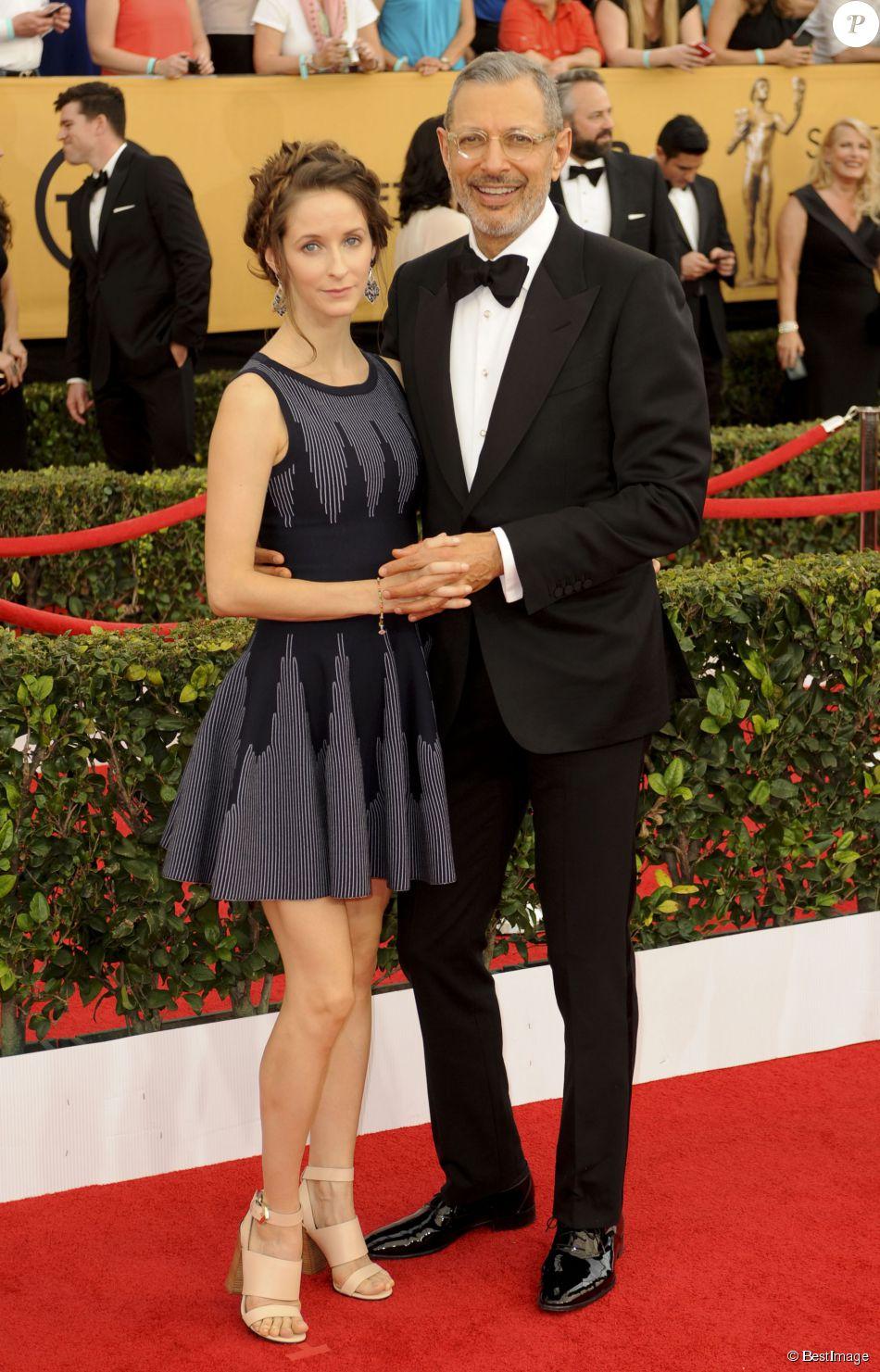 """Jeff Goldblum et sa femme Emilie Livingston enceinte - 21e cérémonie annuelle des """"Screen Actors Guild Awards"""" à l'auditorium Shrine à Los Angeles, le 25 janvier 2015."""