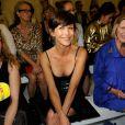 Sophie Marceau assiste au défilé Alexandre Vauthier (collection haute couture automne-hiver 2015/2016) à la Nef du musée des Arts Décoratifs. Paris, le 7 juillet 2015.