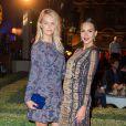 """Exclusif - Jessica Alba et sa meilleure amie Kelly Sawyer - Arrivée des people à la soirée pour fêter l'ouverture du Flagship Store """"Tory Burch"""" dans le jardin de l'hôtel de Sully à Paris, le 7 juillet 2015."""