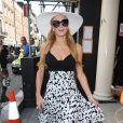 Paris Hilton dans le quartier de Mayfair à Londres le 9 juillet 2015