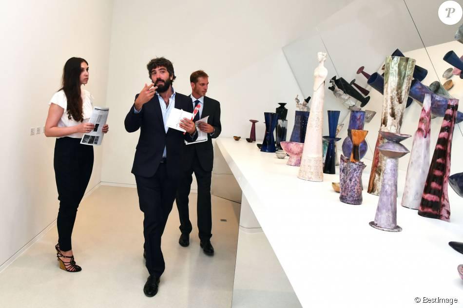 Exclusif - Andrea Casiraghi et sa femme Tatiana Santo Domingo participaient le 7 juillet 2015 au vernissage de la rétrospective organisée à la Villa Paloma (Nouveau Musée National de Monaco) consacrée au sculpteur et peintre italien Fausto Melotti.