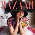 Kendall Jenner photographiée par Karl Lagerfeld et habillée en Chanel (collection haute couture printemps-été 2015) en couverture du magazine Harper's Bazaar. Numéro de mai 2015.