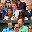 Pippa Middleton et Bernard Arnaultlors de la finale de Wimbledon opposant Novak Djokovic et Roger Federer le 12 juillet 2015