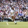 Roger Federer lors de la finale de Wimbledon le 12 juillet 2015
