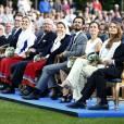 La famille royale suédoise. Célébration des 38 ans de la princesse Victoria de Suède le 14 juillet 2015 à Borgholm, sur l'île d'Öland.