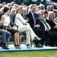 La princesse Madeleine s'amuse avec son mari Chris. Célébration des 38 ans de la princesse Victoria de Suède le 14 juillet 2015 à Borgholm, sur l'île d'Öland.