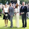 La princesse Sofia, le prince Carl Philip, Chris O'Neill. Célébration des 38 ans de la princesse Victoria de Suède le 14 juillet 2015 à Borgholm, sur l'île d'Öland.