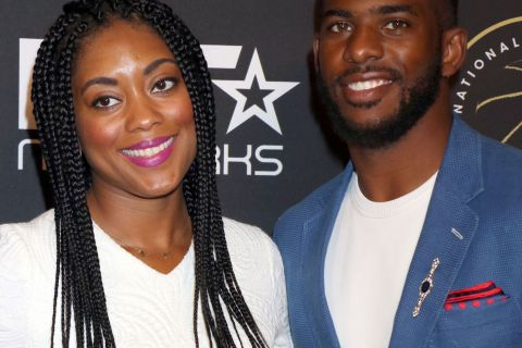 Chris Paul et sa belle Jada : Amoureux complices pour une grande soirée NBA