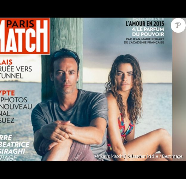 Anthony Delon et Alyson Le Borges, sa fille cachée, dévoilent leur relation naissante lors de vacances aux Bahamas dans Paris Match, en kiosques le 6 août 2015.