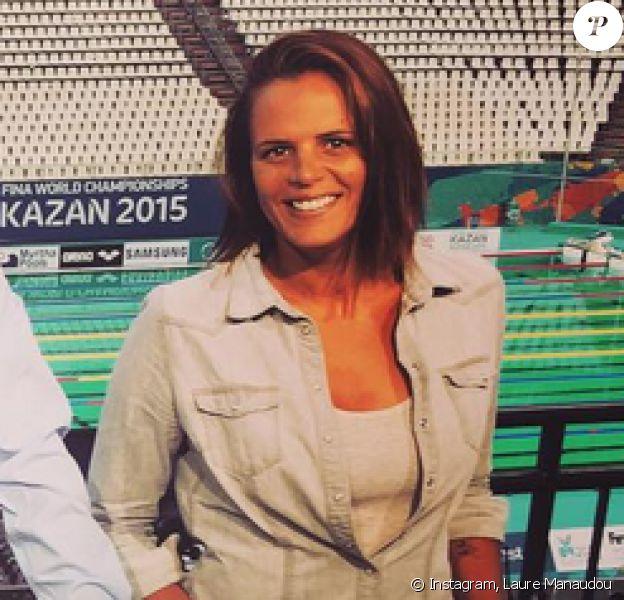 Laure Manaudou avec Philippe Lucas et Alexandre Boyon à Kazan, photo pubiée le 2 août 2015