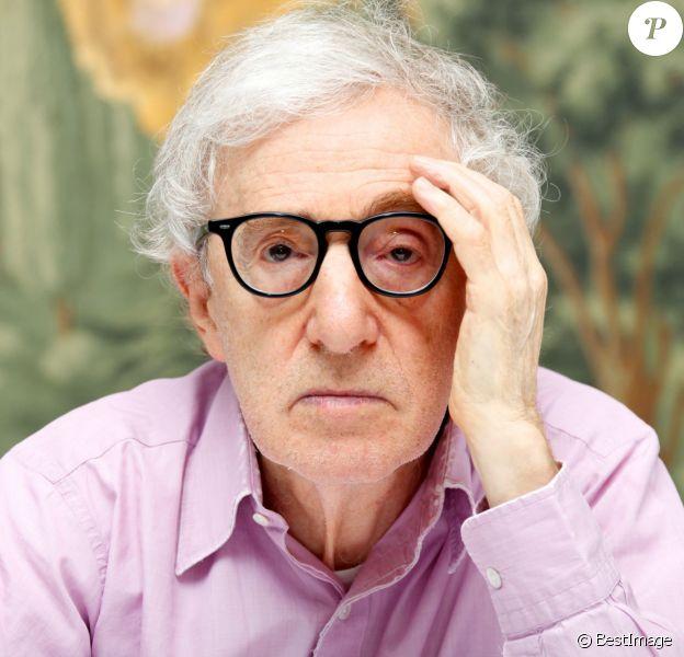 """Woody Allen en conférence de presse pour le film """"Irrational Man"""" au London Hotel à New York. Le 25 juillet 2015"""