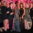 Les égéries Alma Jodorowsky, Julia Roberts, Isabella Rossellini, Lupita Nyong'o, Penelope Cruz, Lily Collins et Kate Winslet à la soirée Lancôme le 7 juillet 2015