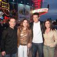 Jean-Pascal, Jenifer, Olivia et Mario de la Star Ac' à Disneyland Resort Paris en février 2002
