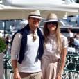 Nico Rosberg et son épouse Vivian Sibold dans les rues de Portofino, le 15 mai 2014