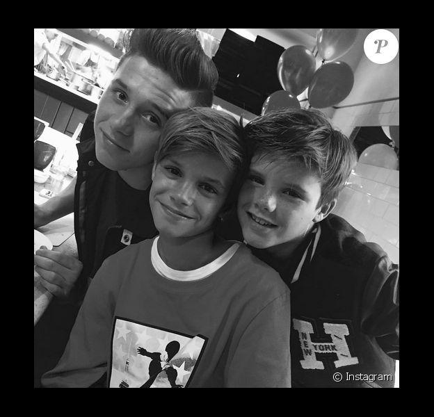Victoria Beckham en famille fête les 13 ans de son fils Romeo / photo postée sur Instagram.