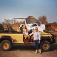 """""""Ronan Keating et sa femme Storm Uechtritz vont faire un safari pendant leur lune de miel / photo postée sur Instagram."""""""