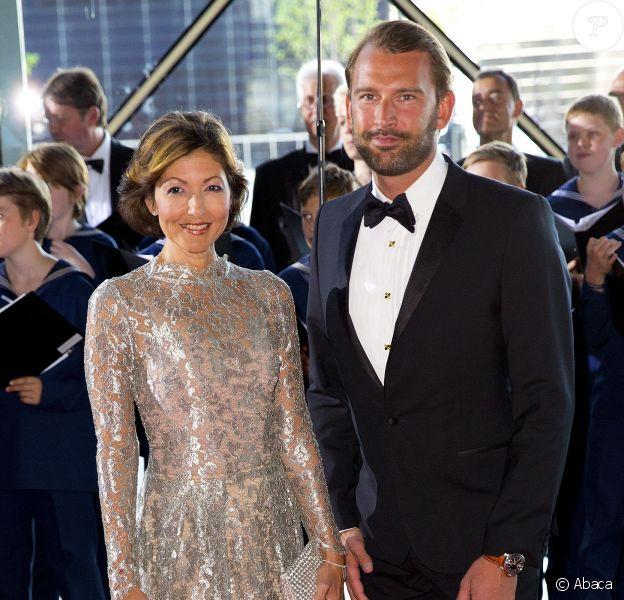 La comtesse Alexandra de Frederiksborg, ex-femme du prince Joachim, et son mari Martin Jorgensen le 1er juin 2014. La comtesse a annoncé en septembre 2015 leur divorce, après huit ans d'un mariage célébré en mars 2007.