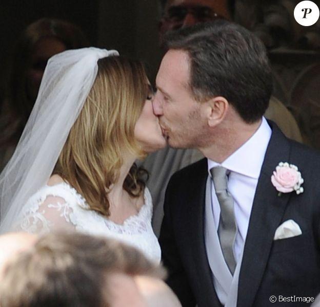 Mariage de Geri Halliwell avec Christian Horner, le patron de l'écurie de F1, Red Bull en l'église de St Mary à Woburn, le 15 mai 2015