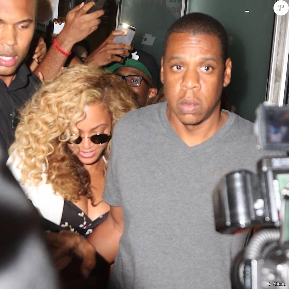 Beyoncé et Jay Z à New York, le 27 juillet 2015.