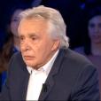 Le chanteur Michel Sardou, invité dans  On n'est pas couché  sur France 2, le samedi 12 septembre 2015.