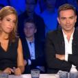 Léa Salamé et Yann Moix, dans  On n'est pas couché  sur France 2, le samedi 12 septembre 2015.