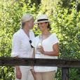 La princesse Victoria de Suède et la princesse Mette-Marit de Norvège lors du pèlerinage du Climat entre Halden (Norvège) et Stromstad (Suède) le 22 août 2015, préfigurant le sommet environnemental COP21.