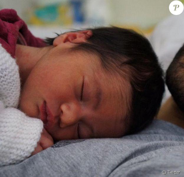 Martin Fourcade avec sa fille Manon - septembre 2015