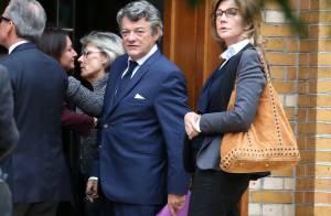 Jean-Louis Borloo épaulé par sa femme Béatrice Schönberg aux obsèques de sa mère