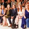 Lauren Bush Lauren, David Lauren, Julianne Moore et Jessica Chastain assistent au défilé Ralph Lauren (collection printemps-été 2016) au Skylight Clarkson Sq. New York, le 17 septembre 2015.
