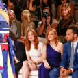 Julianne Moore, Jessica Chastain et son compagnon Gian Luca Passi di Preposulo assistent au défilé Ralph Lauren (collection printemps-été 2016) au Skylight Clarkson Sq. New York, le 17 septembre 2015.