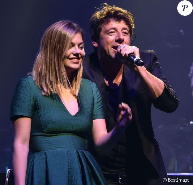"""Patrick Bruel et Louane Emera - Concert caritatif """" Leurs Voix Pour l'Espoir """" à l'Olympia à Paris le 17 septembre 2015."""