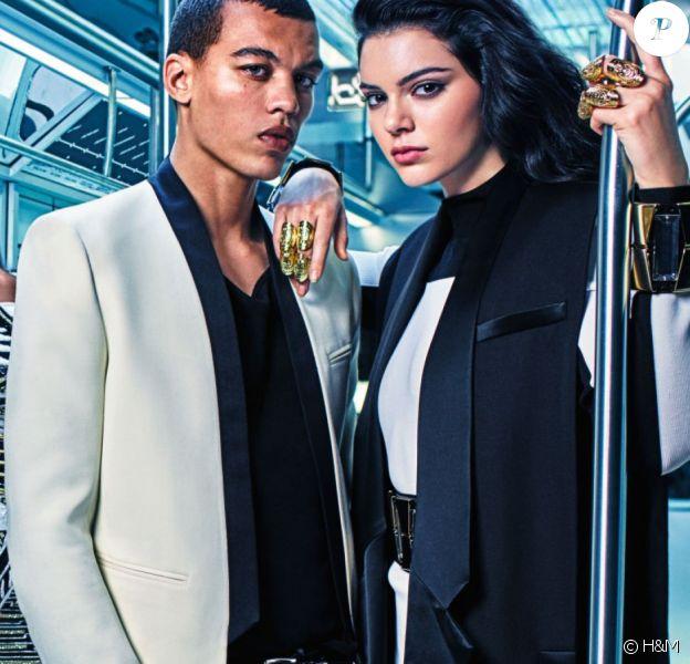 Premier visuel de la campagne Balmain avec Kendall Jenner et Gigi Hadid