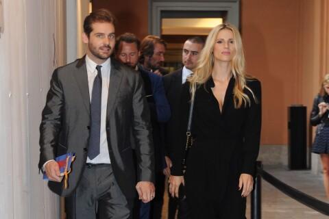 Michelle Hunziker avec son bel héritier et sa fille, stars du défilé Trussardi