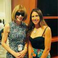 Marion Bartoli avec Anna Wintour à New York en septembre 2015, photo Instagram