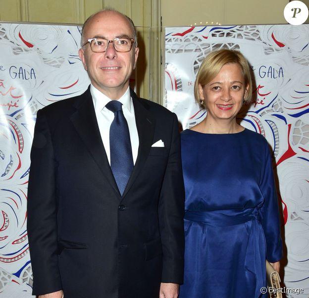 Bernard Cazeneuve et sa femme véronique - 30e Gala de l'Aide à l'Enfant Réfugié à la Salle Gaveau à Paris le 5 octobre 2015.