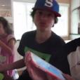 Caleb, Hayley et Annie Bratayley, dans une vidéo de la famille Bratayley. 2015