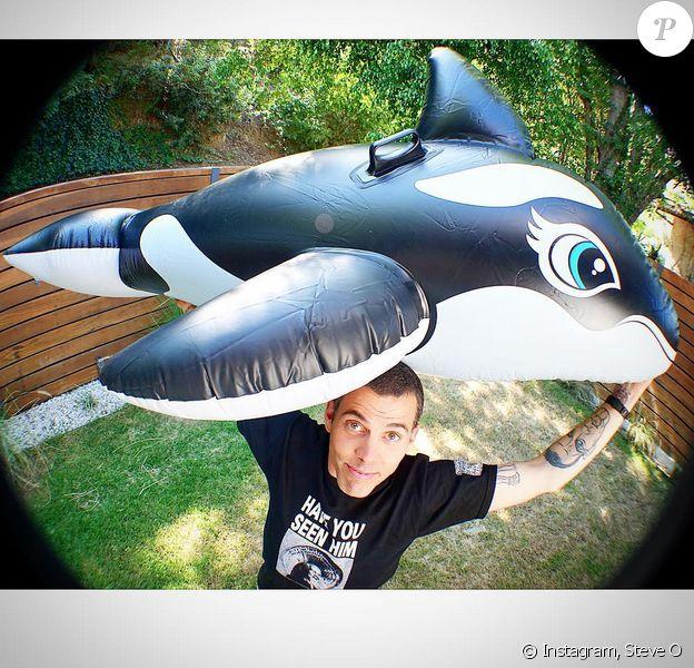 Steve-O sur sa page Instagram avec son orque Shammy (photo postée le 9 aout 2015)
