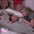 Rémi et Emilie, dans la quotidienne de  Secret Story 9 , le vendredi 9 octobre 2015 sur NT1.