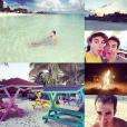 Alex Goude et son chéri Romain Taillandier profitent de belles vacances aux Bahamas. Octobre 2015.